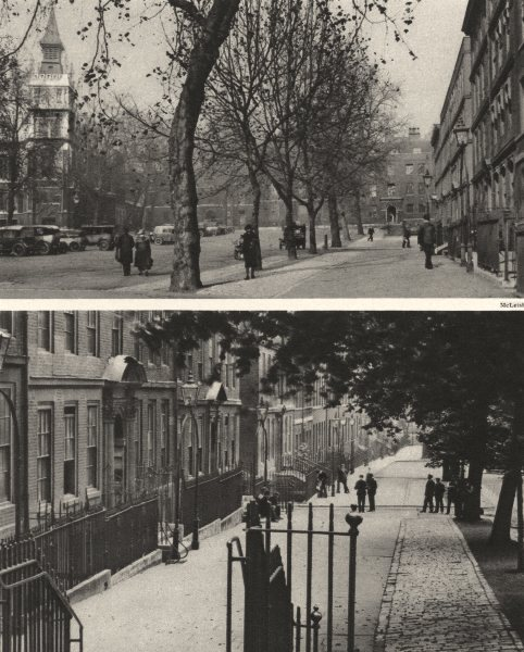 Associate Product LONDON. Round about the Purlieus of King's Bench Walk 1926 old vintage print