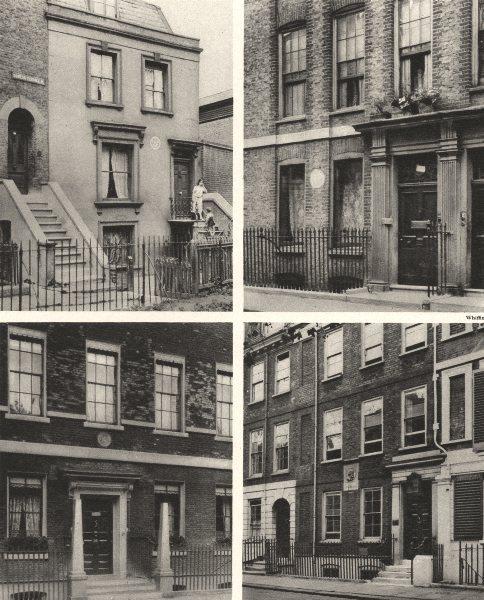 Associate Product LONDON.Lamb, Hazlitt-Frith St-Sheridan-14 Savile Row-Carlyle 14 Cheyne Walk 1926