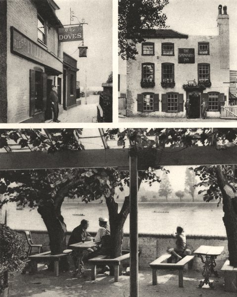 Associate Product LONDON. Taverns. The Doves, Chiswick & The Spaniards, Hampstead 1926 old print