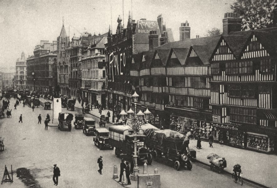 Associate Product HOLBORN. Leaning Timbered gables of 16th century. Staples Inn 1926 old print