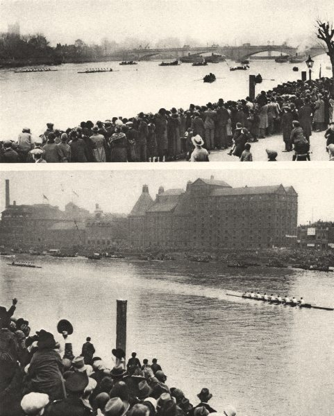 Associate Product LONDON. Varsity University Boat Race. Oxford Cambridge. Start and finish 1926