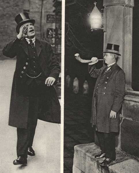 Associate Product LONDON. Beadle in Ely Place and Panyer- man in the Temple 1926 old print