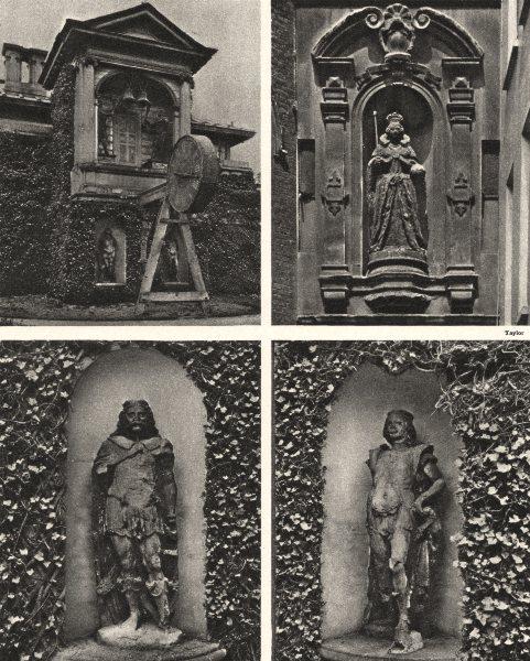 Associate Product KING LUD & SONS. St Dunstan's Lodge, Regent's Park. Statues. Clock tower 1926