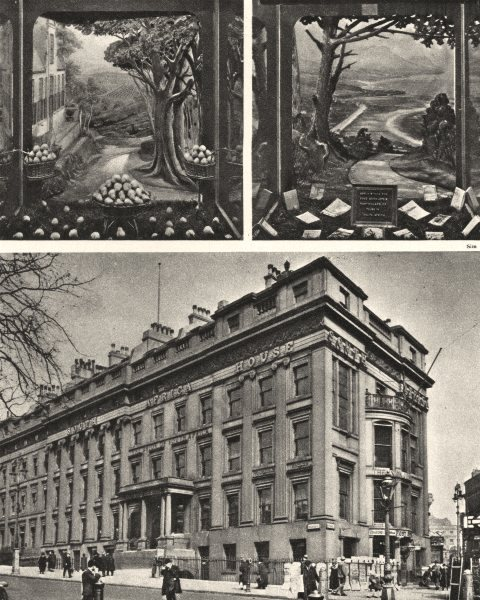Associate Product TRAFALGAR SQUARE. South Africa house and its Lure for Emigrants 1926 old print
