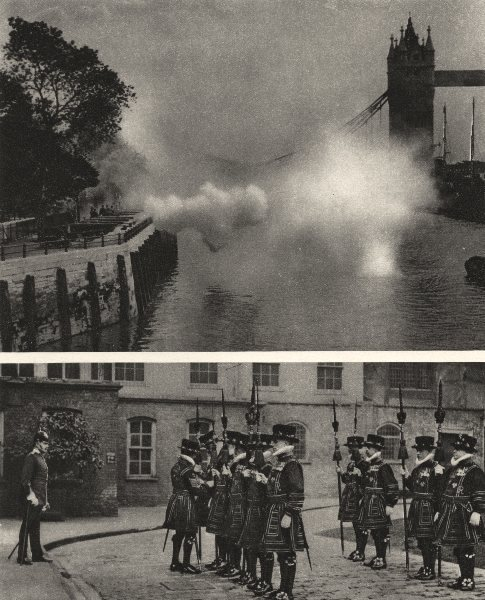 Associate Product LONDON. King's birthday salute. Easter ceremony at the Tower of London 1926