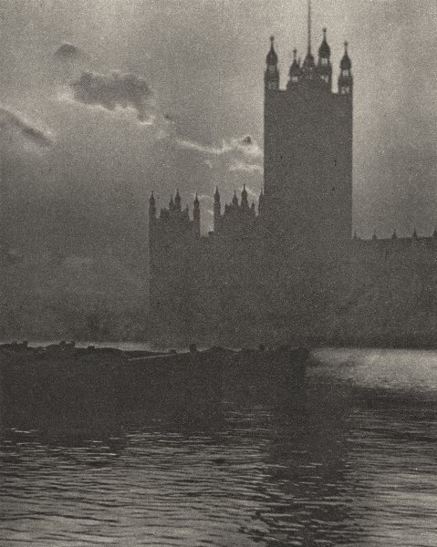 Associate Product LONDON. Palace of Wesminster Houses of Parliament 1926 old vintage print