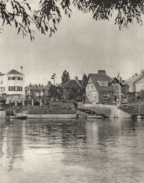 Associate Product TWICKENHAM FERRY.Only a penny to Twickenham town 1926 old vintage print