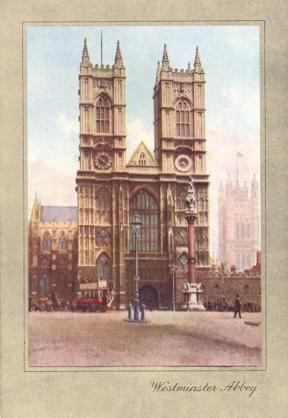 Associate Product LONDON. Westminster Abbey 1926 old vintage print picture