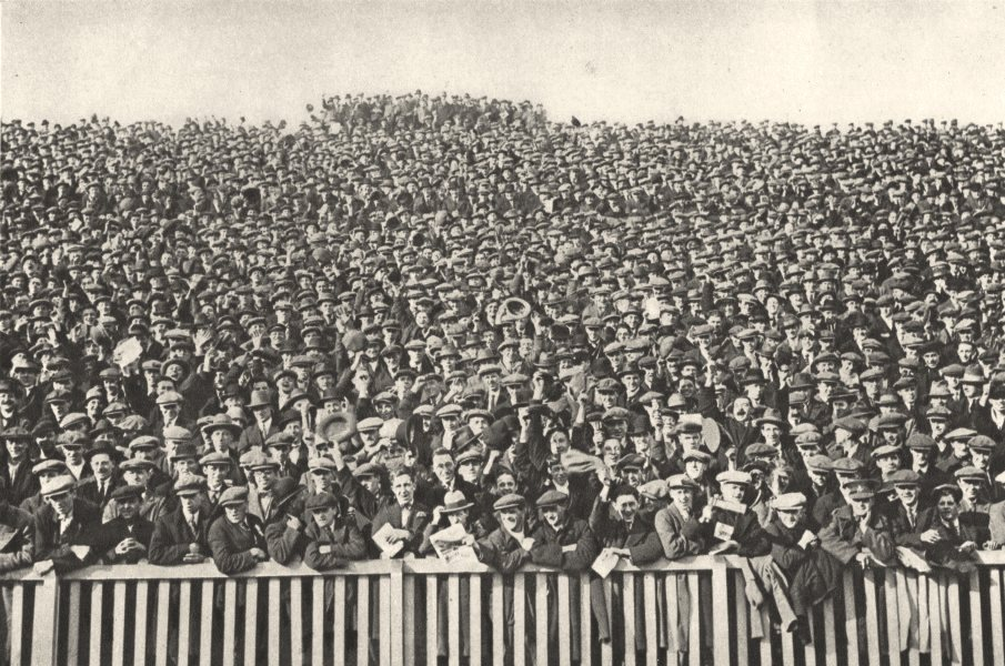 Associate Product LONDON. Football crowd. Voice which roars behind touch-line every Saturday 1926