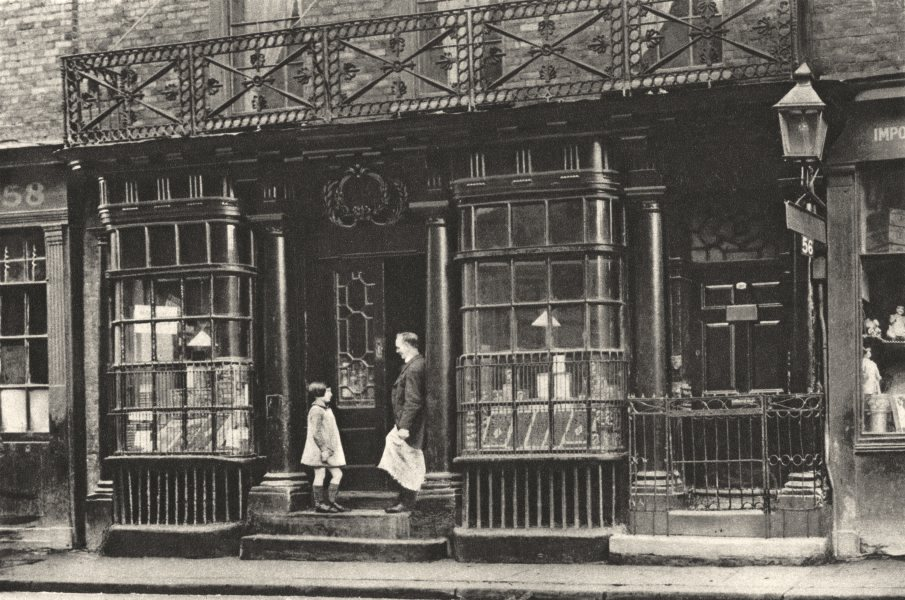 Associate Product LONDON. 56 Artillery Lane. Old-fashioned shop front once common in the city 1926