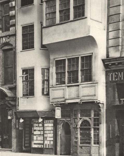 Associate Product LONDON. Old Houses Strand conserved 1926 vintage print picture