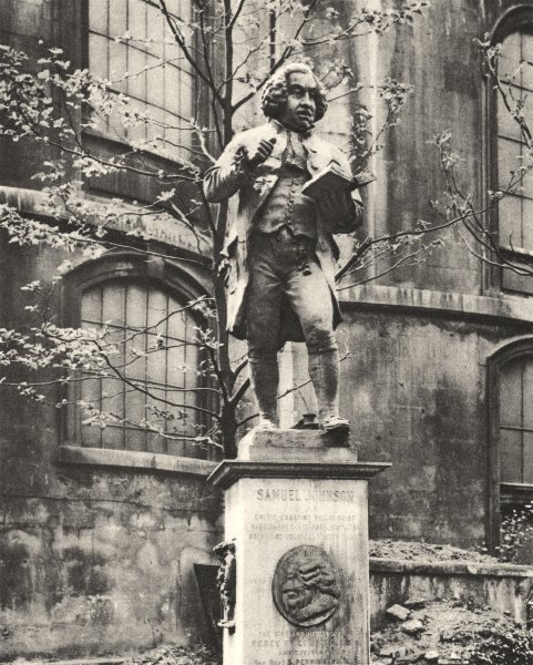 Associate Product LONDON. Dr. Samuel Johnson on his pedestal, whence he can see Fleet Street 1926