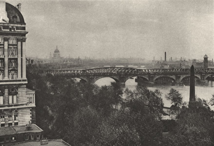 Associate Product LONDON. Adelphi Terrace river Hotel Cecil Tower Bridge 1926 old vintage print