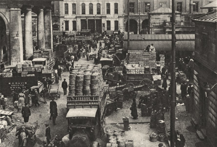 Associate Product LONDON. Early morning Convent garden now Covent Garden market 1926 old print