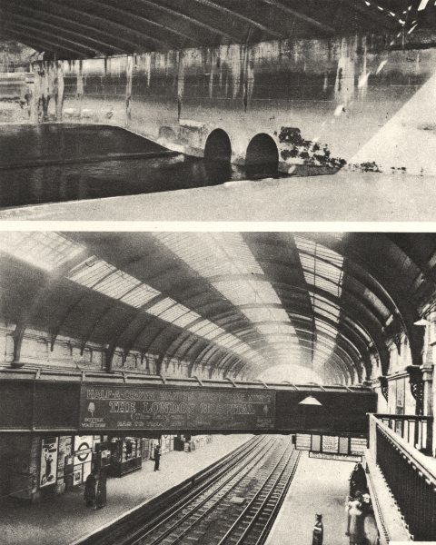 Associate Product LONDON RIVERS. Holebourne Holborn.Westbourne at Sloane Square station 1926