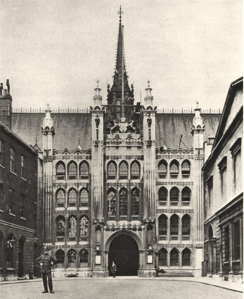 Associate Product LONDON. Dignified gateway of Guildhall, splendid palace city fathers 1926