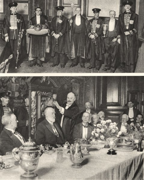 Associate Product LONDON.Ceremonies installation new masters Saddlers Girdlers City companies 1926