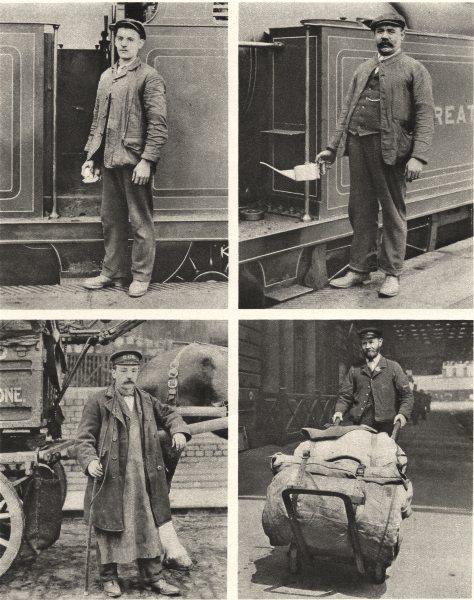 Associate Product LONDON RAILWAYS. Train driver Fireman Carman Porter 1926 old vintage print