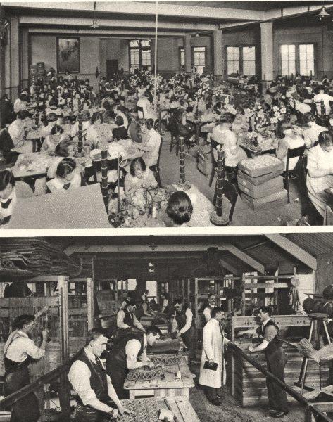 Associate Product CHARITY. Crippled Girls roses Alexandra day blind mat-makers St. Dunstan's 1926