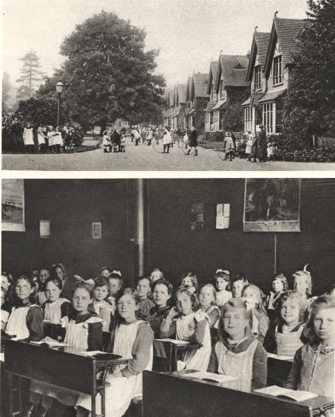 STEPNEY CAUSEWAY. Dr Barnardo's home, Barkingside & girls who live in it 1926