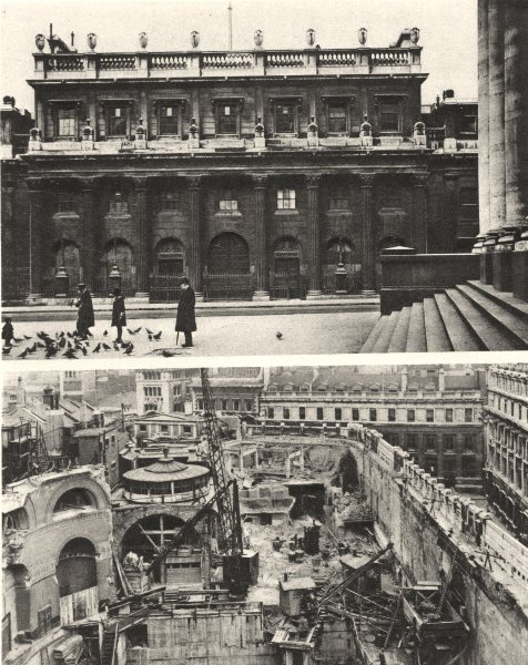 Associate Product LONDON. Old Bank of England. Sampson. Rotunda 1926 vintage print picture