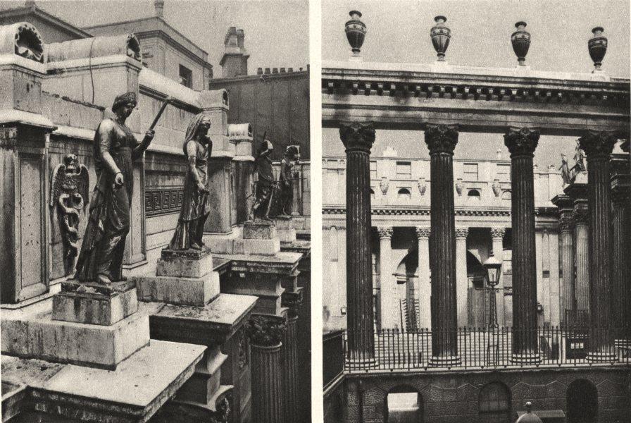 Associate Product BANK OF ENGLAND.Columns figures Bullion Yard, Sir John Soane's contribution 1926