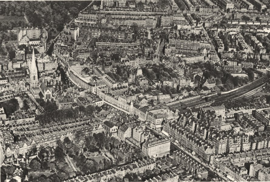 Associate Product KENSINGTON. from aloft, showing Inner circle & St. Mary Abbot's Church 1926