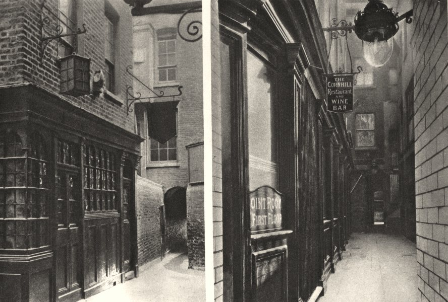 Associate Product LONDON. Mitre in Ely Place & George & Vulture. Mr Pickwick found quarters 1926