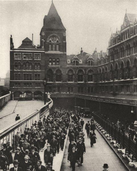 Associate Product LONDON. Liverpool-Street station at nine o'clock six mornings a week 1926