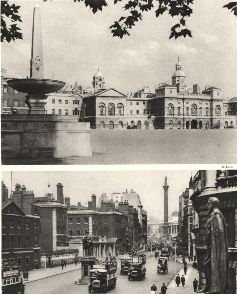 Associate Product LONDON. Horse Guards, old guard Whitehall palace 1926 vintage print
