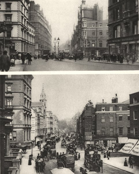 Associate Product LONDON. Knightsbridge old and new. Only surviving houses from 1890's 1926