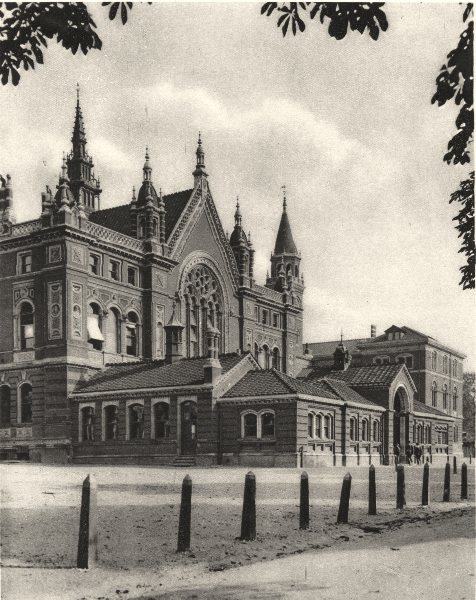 Associate Product LONDON. The middle block and senior school at Dulwich college 1926 old print
