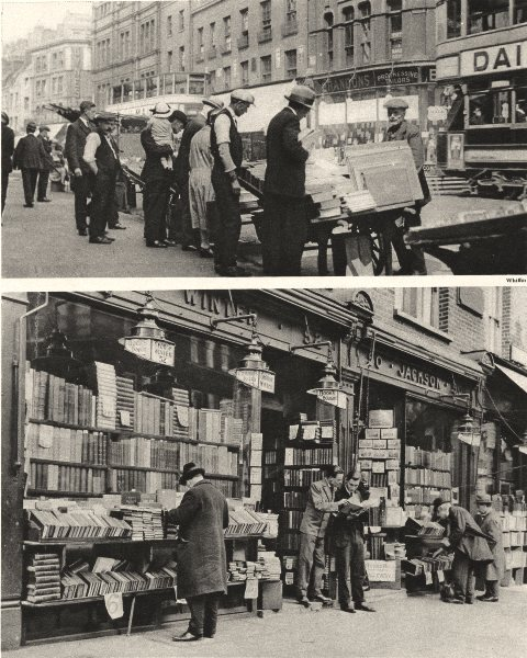 Associate Product LONDON. Hunt for Bargains in books Shoreditch & Charing-Cross road 1926 print