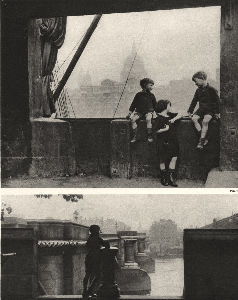 Associate Product LONDON. Blackfriars bridge from the south and a Bankside picture. Children 1926