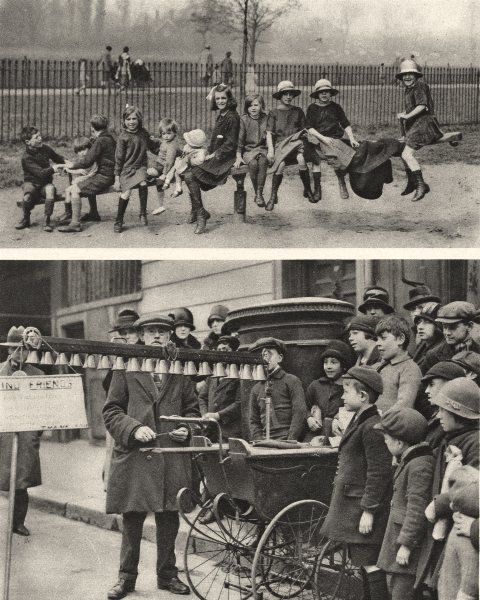 Associate Product LONDON. Playground. Fun in the park and the street for London children 1926