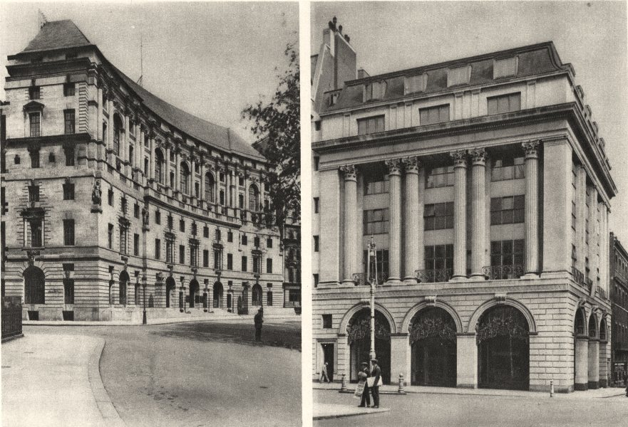 Associate Product LONDON.Lutyens Britannic House,Finsbury Circus.Curtis Green bldg Piccadilly 1926
