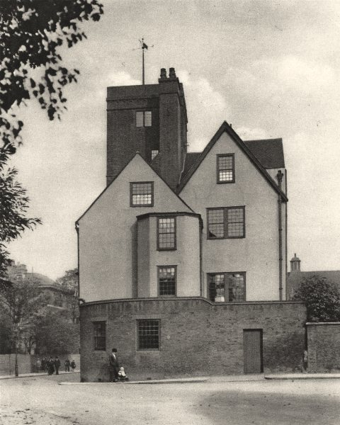 Associate Product LONDON. Canonbury tower, and old manor house turned into a social club 1926