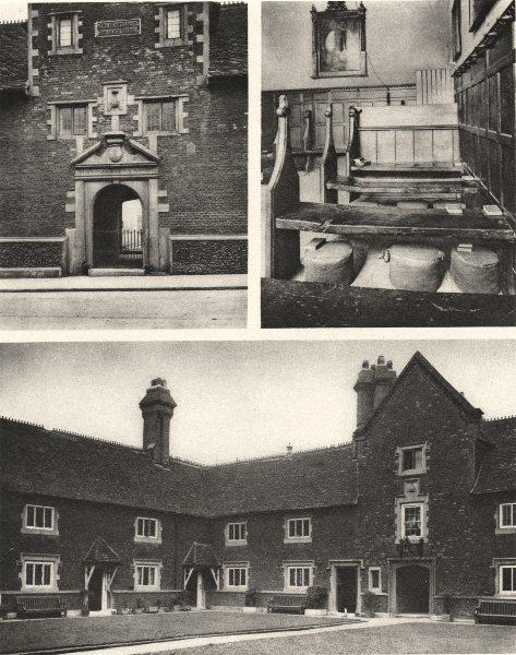 Associate Product LONDON. Whitgift hospital, one of Croydon's few beauties 1926 old print