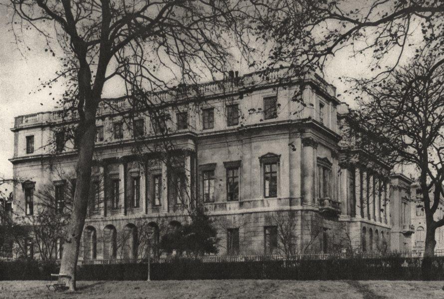 Associate Product LONDON. Lancaster House through Green Park Railings 1926 old vintage print