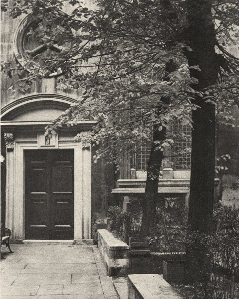 Associate Product LONDON. South door of the church of St. Mary Aldermanbury 1926 old print