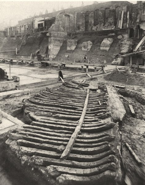 Associate Product LONDON. Galley, Probably Roman, found on the site of the County Hall 1926