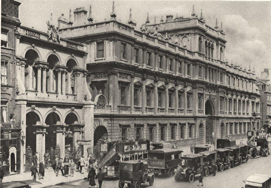 Associate Product LONDON. Burlington Arcade entrance & Royal Academy in Piccadilly 1926 print