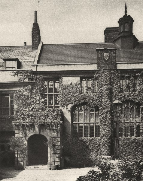 Associate Product LONDON. Great hall where the brothers of The Charterhouse dine 1926 old print