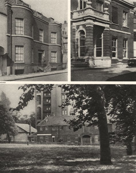 Associate Product LONDON. Thackeray houses in Kensington at Young Street and Palace Green 1926