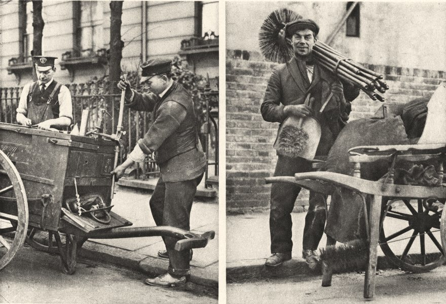 Associate Product LONDON. Chimney sweep and gas fitter 1926 old vintage print picture