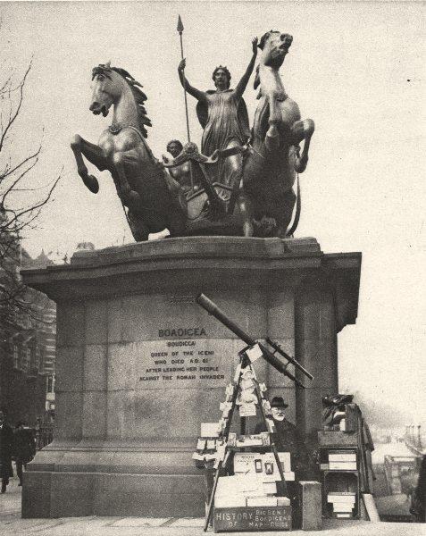 Associate Product LONDON. Westminster-Bridge Heroic Rebel Queen Early Britain. Boadicea 1926