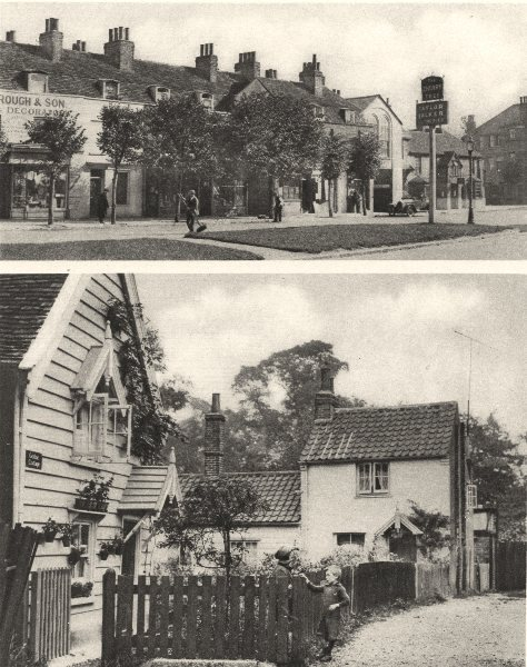 "Associate Product LONDON. ""Cherry Tree"" pub, Old Southgate. Hadley Green village 1926 print"