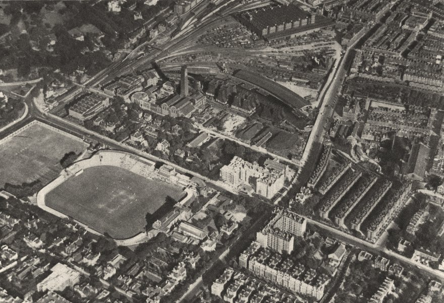 Associate Product MARYLEBONE ST JOHN'S WOOD. Aerial view of Lord's cricket ground. 1926 print