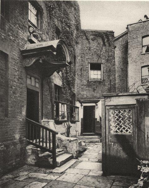 Associate Product LONDON. The Bridge house in George Row, Bermondsey 1926 old vintage print