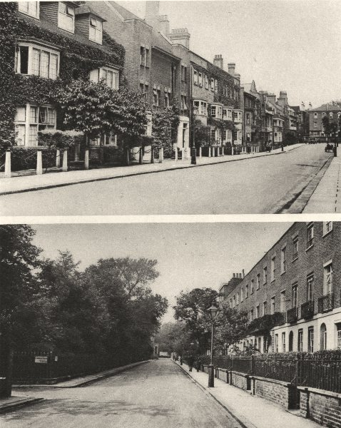 Associate Product LONDON. Mulberry walk, off the King's Rd, Chelsea & Edwardes Sq 1926 old print